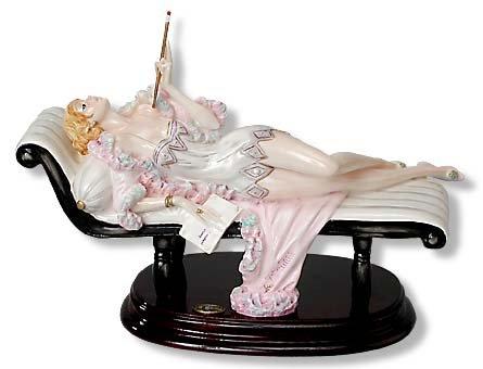 A. Santini Lady on Sofa