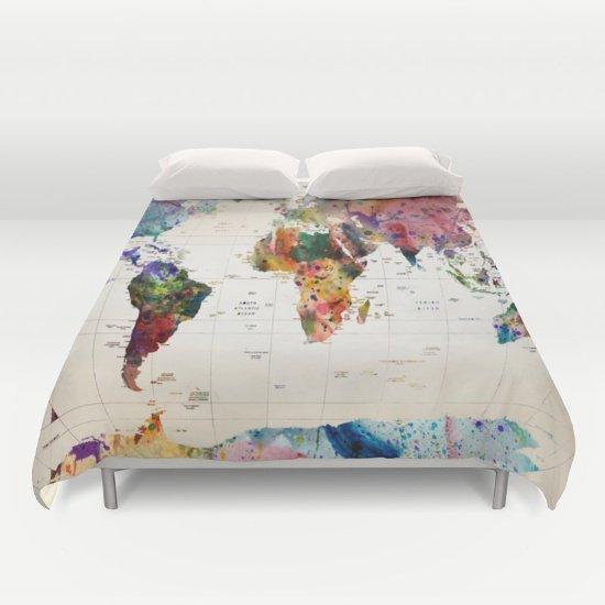 Map Duvet Cover Queen Size  2fnX54F