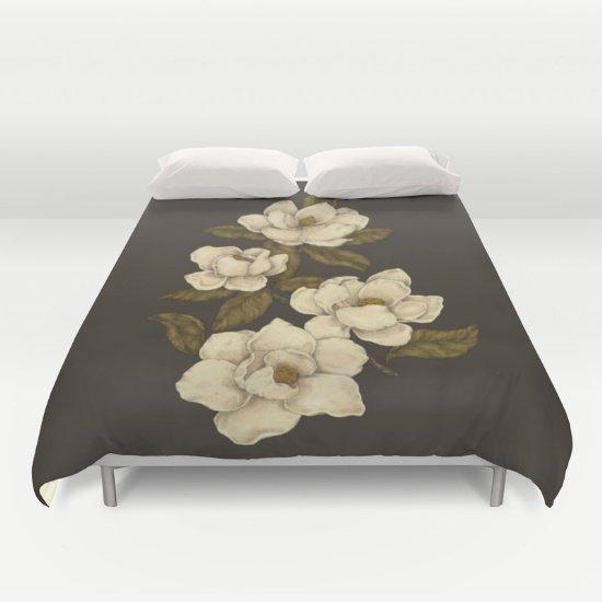 Magnolias Duvet Cover Queen Size  2fBqSlF