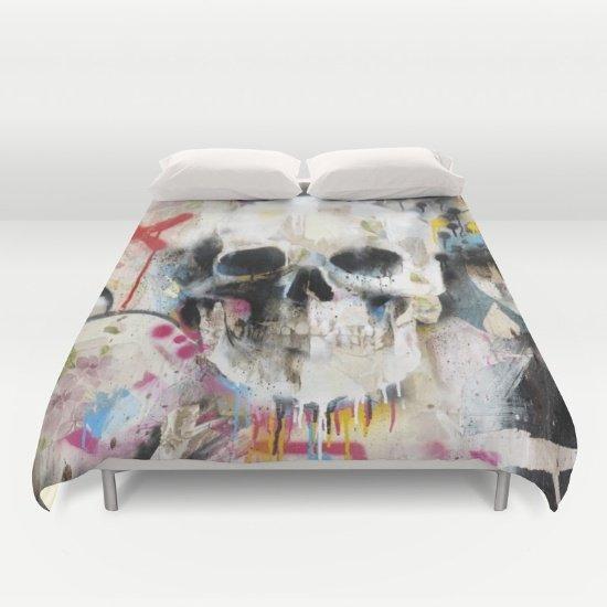 Skull Duvet Cover Full Size 2fBnI1y