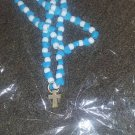 blue beaded cross necklace