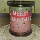 Merry Christmas Scented Wood Wick Candle