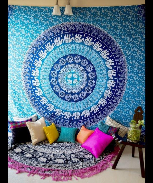 Elephant mandala Gpsy bohemine wall hanging
