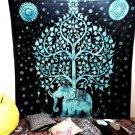 ELEPHANT TREE OF LIFE INDIAN MANDALA TAPESTRY WALL