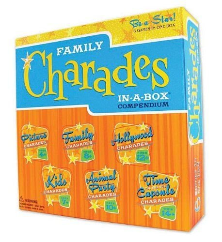 Charades Party Family Charades in a Box Compendium Board Game