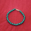 Blue Green Bead Bracelet