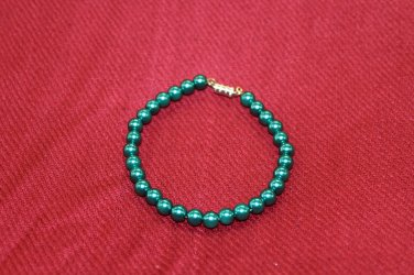 Blue Green Bead Bracelet
