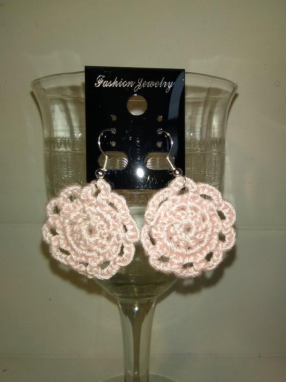 Pink Doily Earrings