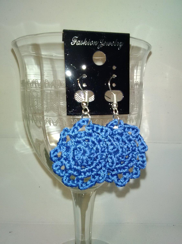 Blue Doily Earrings