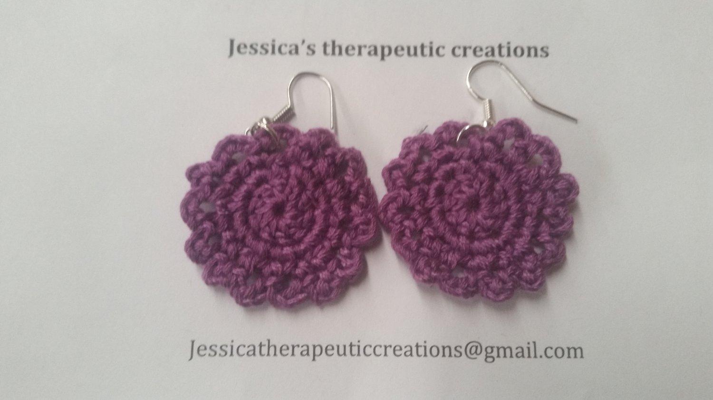 Purple Doily Earrings