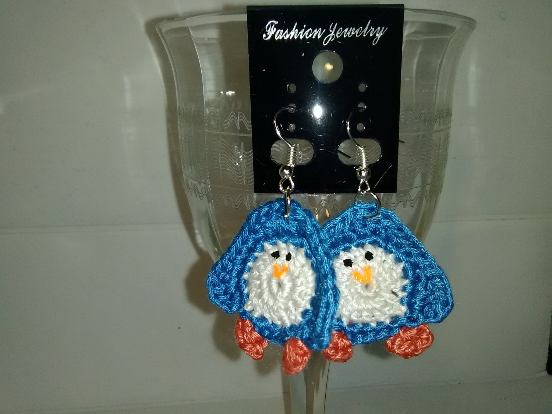 Blue Penguin earrings