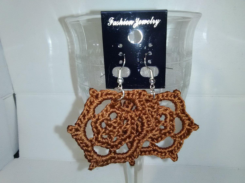 Brown Sunburst earrings