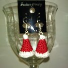 3D santa hat earrings