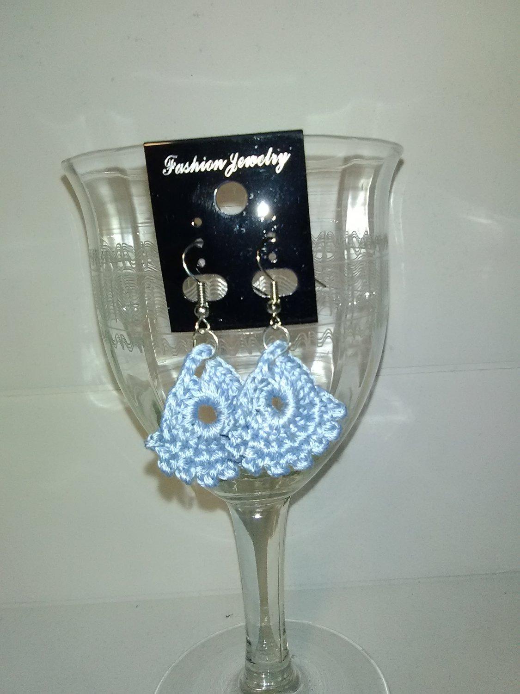 Light Blue Dainty Earrings