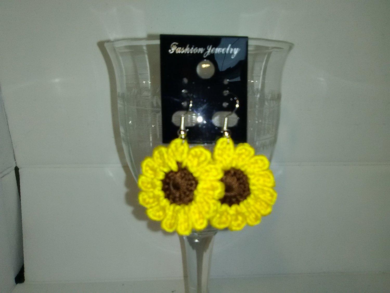 Bright Yellow Sunflower Earrings