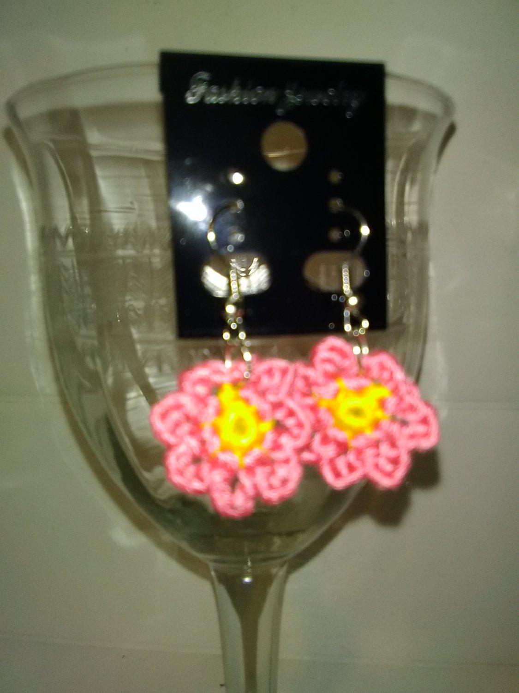 Little Pink Flower Earrings