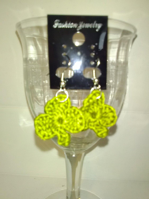 Olive Shamrock Earrings