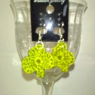 Olive Shamrock Earrings