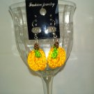 Pumpkin With Leaf Earrings