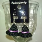 3D Witch Hat Earrings