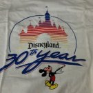 30th Anniversary White Disneyland Short Sleeved T Shirt XL New White
