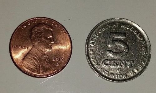 Mississippi Belle in Clinton, IA 5 Cent Token - 1983 - Used in circulation