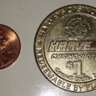 Harvey's Casino & Hotel $1 Game Token - No Date - Used in ciruclation