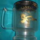 Clear Glass Texas Eagle Amtrak Coffee Mug with Plastic Lid
