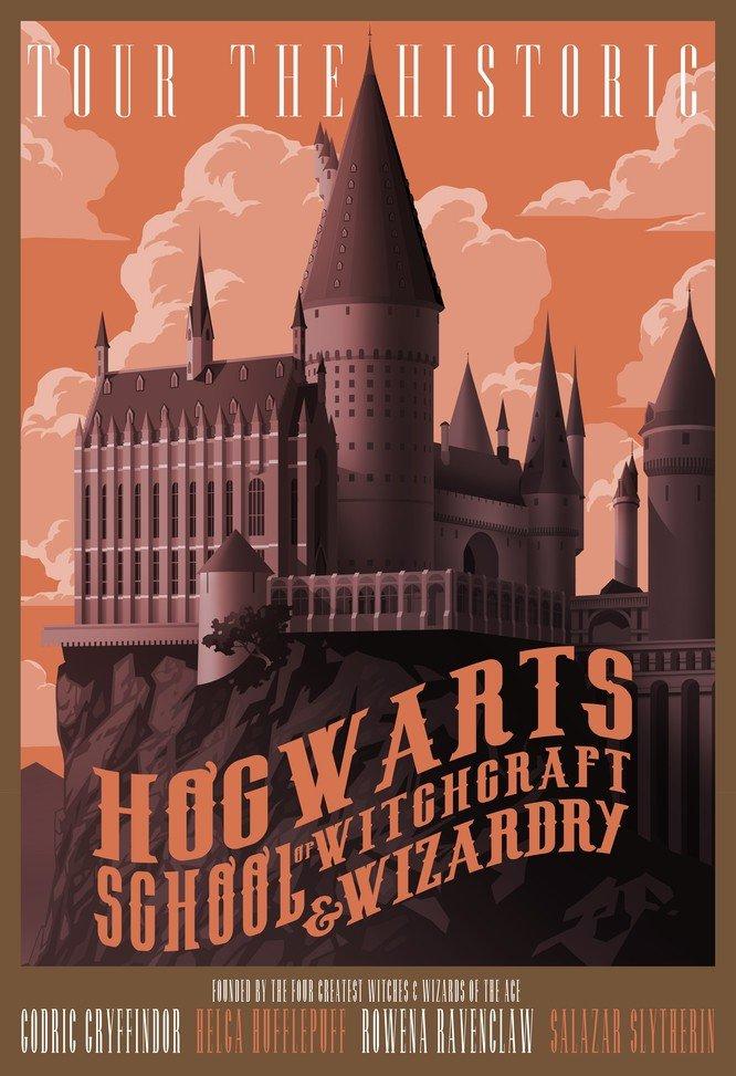 Hogwarts School Vintage Poster # 2
