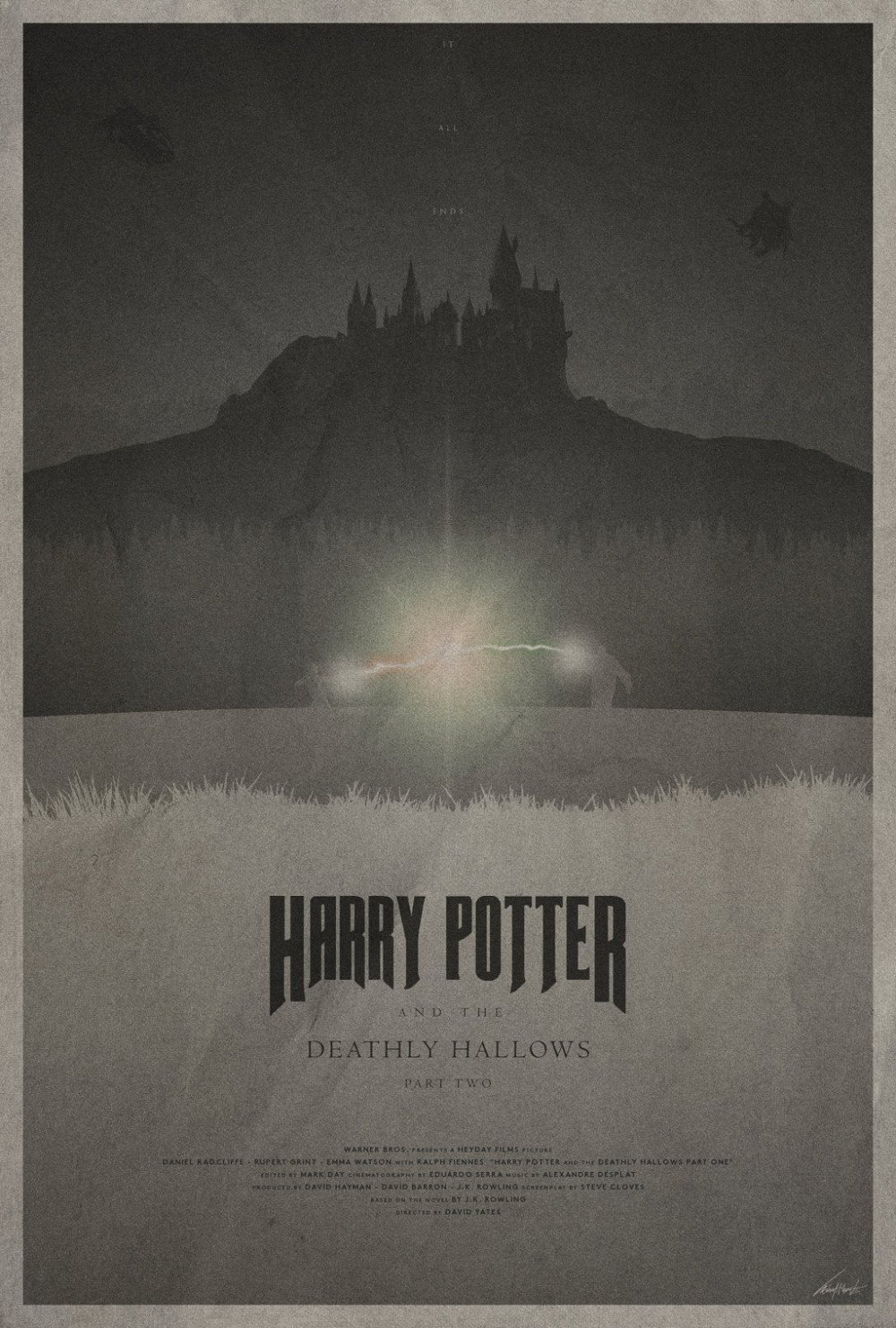 Deathly Hallows Vintage Poster # 2