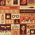 Harry Potter Retro Vintage Poster # 1