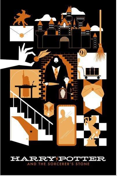 Harry Potter Retro Vintage Poster # 2