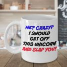 FUNNY CRAZY UNICORN MUG 110Z Novelty Ceramic Coffee Tea Cup