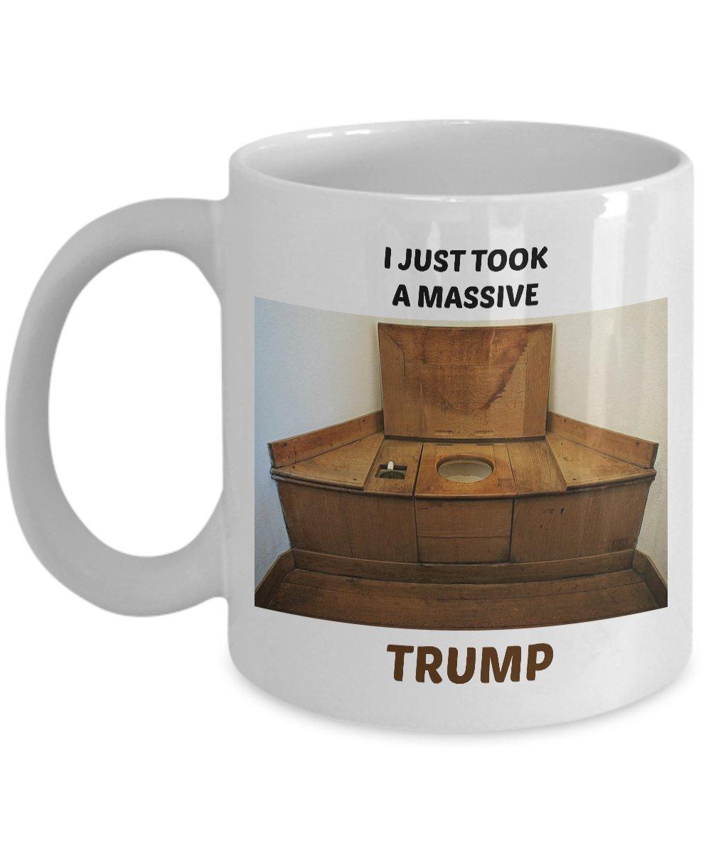 Funny I JUST TOOK A MASSIVE TRUMP 110Z Mug Novelty Ceramic Coffe Tea Cup