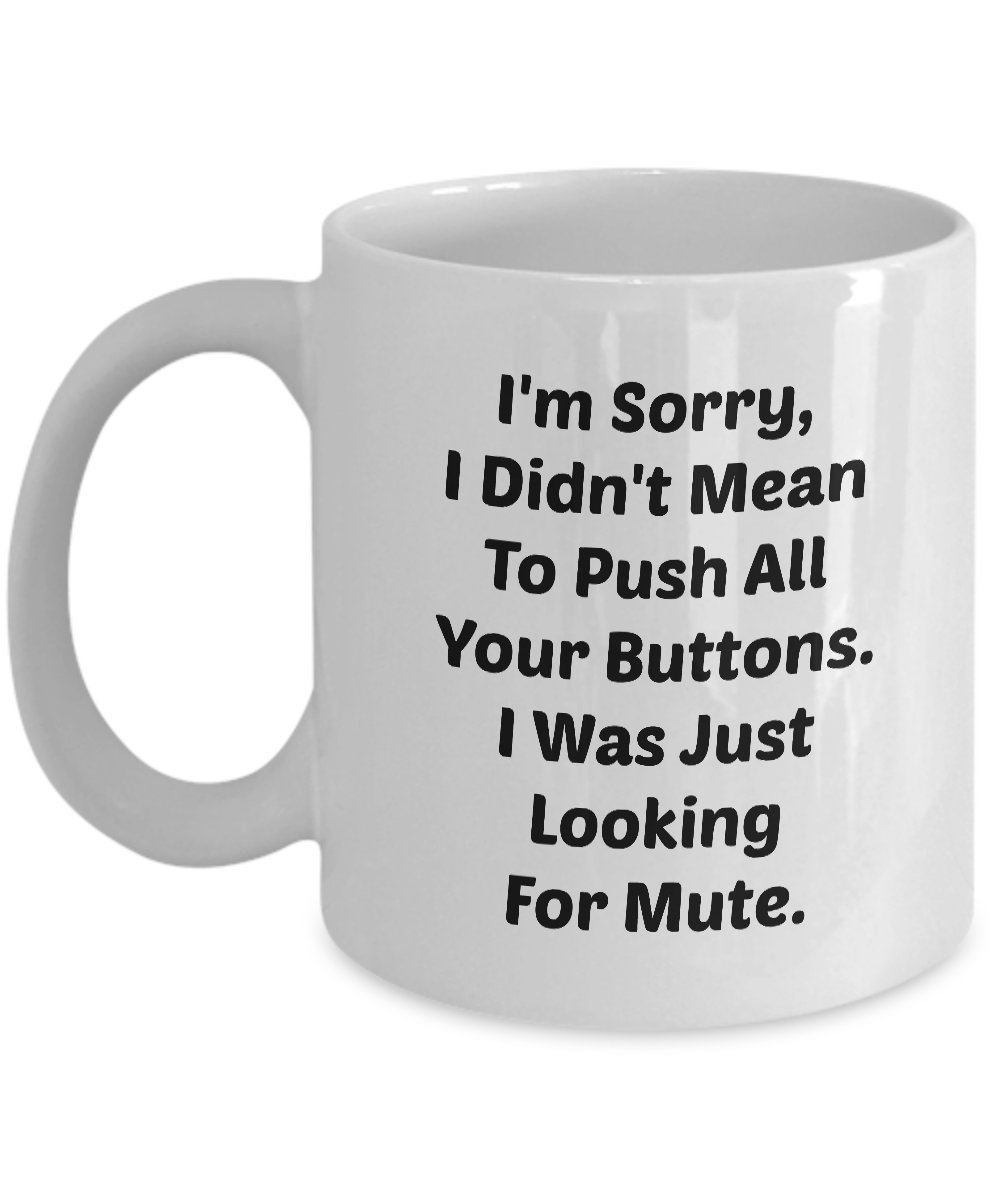 Funny LOOKING FOR MUTE 110Z Mug Novelty Ceramic Coffe Tea Cup Ideal Gift
