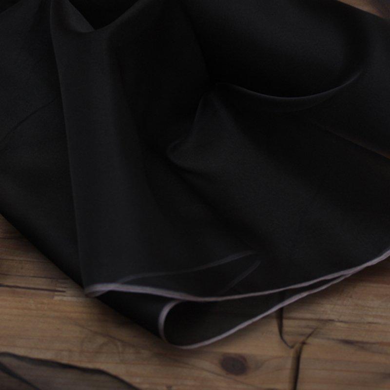 pure black  silk organza fabric online by yard 110 cm width