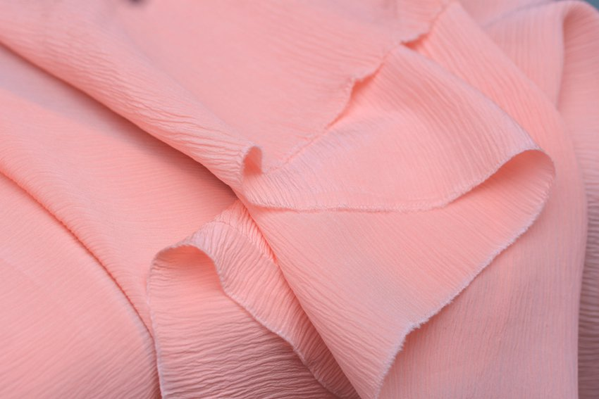 crinkle silk fabric sell by meter 19momme