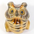 Big Selenite stone Owl bird figurine from Russia