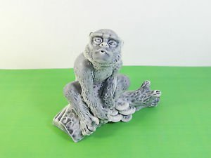Pressed marble stone crumb Monkey figurine from Russia