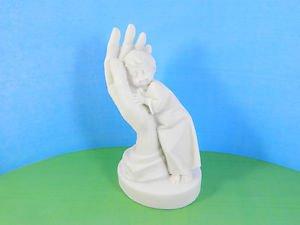 Pressed marble stone crumb Child boy on the Hand figurine