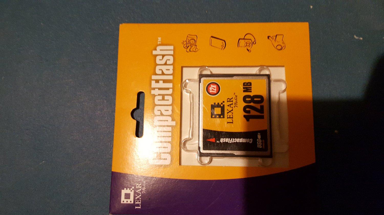 Lexar 128mb cf compact flash card