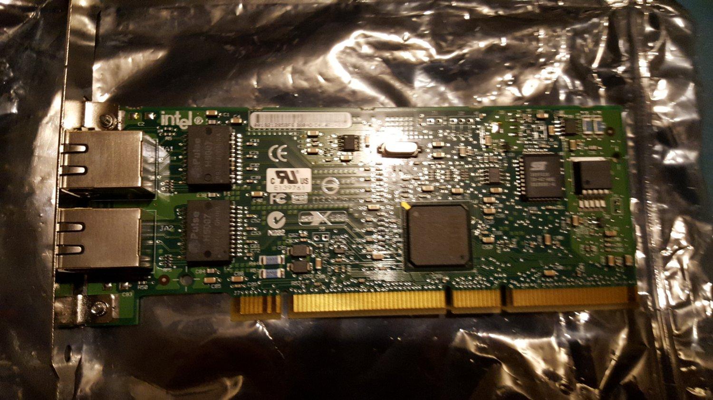 Intel Pro/1000 dual port PCI card