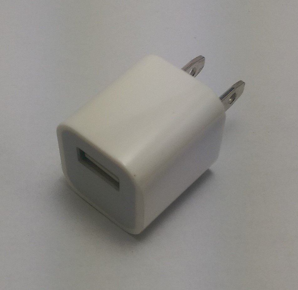 BRAND NEW White USB 5V 1A Wall/Travel Charger Cube