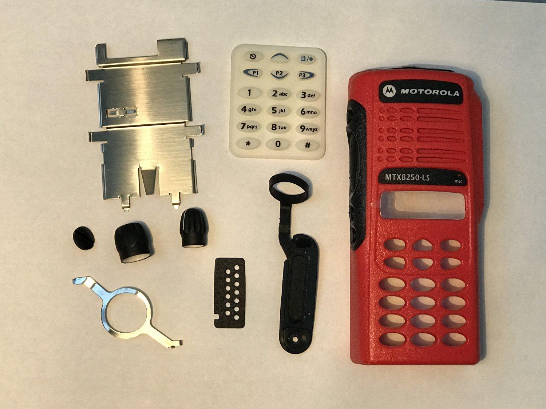 Red Case Housing cover for motorola MTX8250.LS Radio