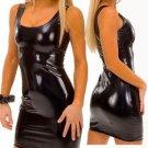 Black Wet Look Tank Dress