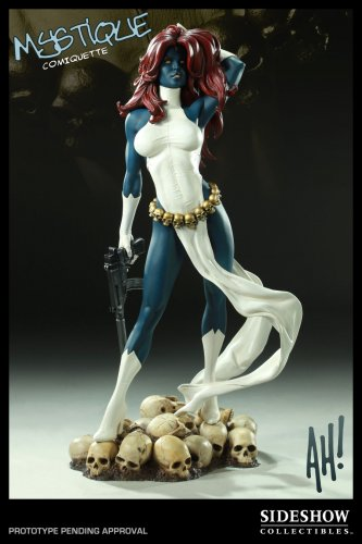 SIDESHOW X-MEN MYSTIQUE COMIQUETTE REGULAR  1/4 STATUE