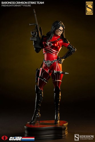 Sideshow  Baroness READ  Premium Format Crimson GI Joe Exclusive