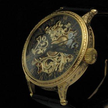 Omega  Mens 1925 Vintage GOLD SENSATIONAL Watch SKELETON