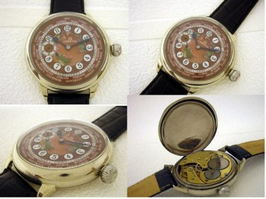 Omega Vintage Mens Swiss   Watch . World Time 1908-1912