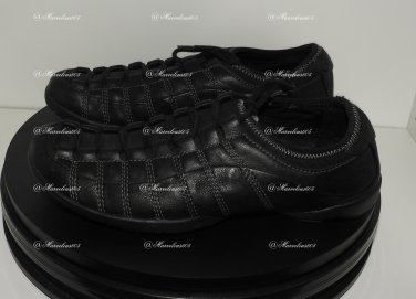 Kenneth Cole Men/Women  Black Leather Fashion Sneakers Sz : 8.5Us - 40,5EUR